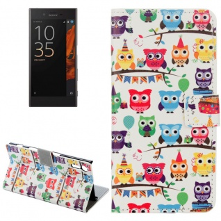 Tasche Wallet Premium Muster 13 für Sony Xperia XZ F8331 Bookcover Hülle Case