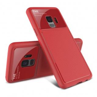 Design Cover Rot TPU für Samsung Galaxy S9 G960F Schutz Etui Tasche Hülle Case