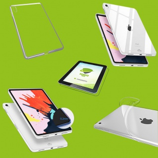 Für Apple iPad Pro 12.9 Zoll 2018 Transparent Hülle Tasche Cover + HD LCD Folie