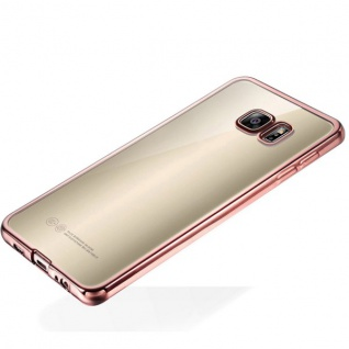Premium TPU Schutzhülle Pink für Samsung Galaxy S6 Edge G925 G925F Tasche Case