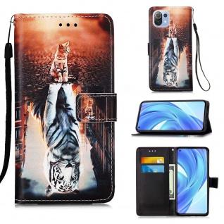Für Xiaomi Mi 11 Lite Kunst-Leder Handy Tasche Motiv 3 Hülle Case Etuis Schutz