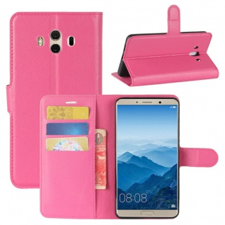 Tasche Wallet Premium Pink für Huawei Mate 10 Hülle Case Cover Etui Schutz Neu