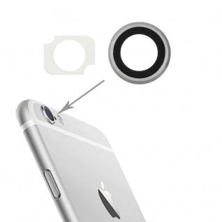 Kameraglas Kameralinse für Apple iPhone 6 Plus Haupt Kamera Glas + Rahmen Silber