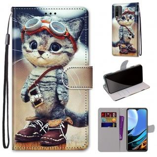 Für Xiaomi Redmi 9 Power / Note 9 4G Kunst-Leder Handy Tasche Motiv 1 Hülle Etui