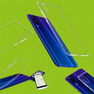 Für Xiaomi Mi 9 SE Silikon TPU Transparent + H9 Hart Glas Tasche Hülle Etuis Neu