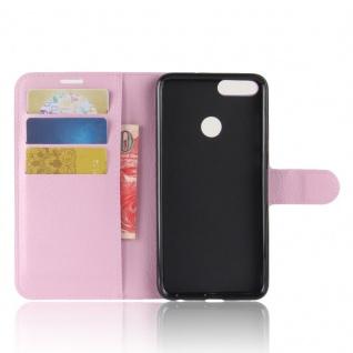 Tasche Wallet Premium Rosa für Huawei Enjoy 7S / P Smart Hülle Case Cover Schutz - Vorschau 4