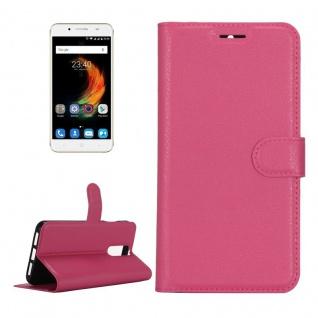 Tasche Wallet Premium Pink für ZTE Blade A610 Plus Hülle Case Cover Etui Schutz