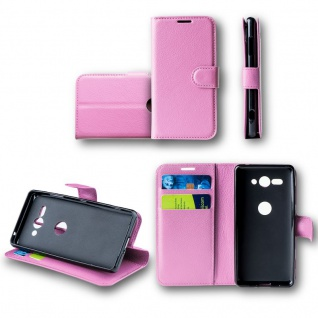 Für Wiko View 2 Tasche Wallet Premium Rosa Hülle Case Cover Schutz Etui Neu Top
