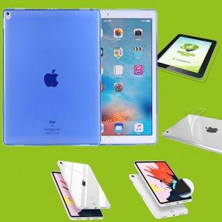 Für Apple iPad Pro 12.9 Zoll 2018 Blau Hülle Tasche Cover + H9 Hart Glas Case