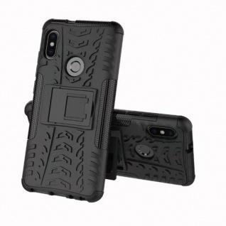 Für Xiaomi Redmi Note 5 Hybrid Case 2teilig Outdoor Schwarz Tasche Etui Cover