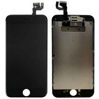 All in One Display LCD Komplett Einheit Touch kompatibel Apple iPhone 6S Schwarz