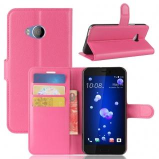Tasche Wallet Premium Pink für HTC U11 Life Hülle Case Cover Etui Schutz Zubehör