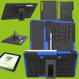 Für Samsung Galaxy Tab S6 Lite Hybrid Etuis Blau Hülle Tablet Tasche + H9 Glas