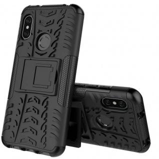 Für Xiaomi MI MAX 3 Hybrid Case 2teilig Outdoor Schwarz Tasche Hülle Cover Etui