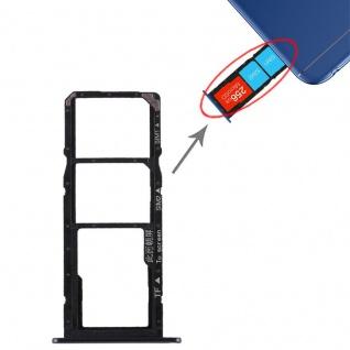 Ersatz Sim Karten Halter Adapter Sim Tray für Huawei Honor 7A Reparatur Schwarz