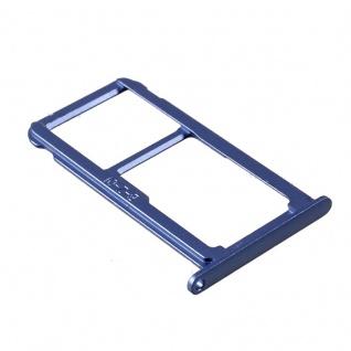Für Huawei P10 Lite Sim Karten Halter Sim Tray Sim Schlitten Sim Holder Blau Neu