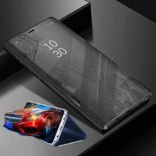 Für Samsung Galaxy A7 A750F Clear View Smart Cover Schwarz Tasche Hülle Wake UP - Vorschau 2