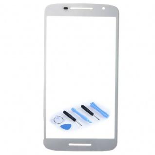Display Glas Weiß für Motorola Moto X Play 3rd gen XT1562 XT1563 Reparatur Neu