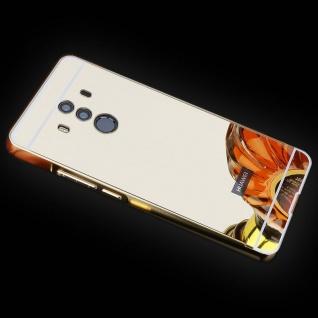 Spiegel / Mirror Alu Bumper 2teilig Gold für Huawei Mate 10 Pro Tasche Case Etui