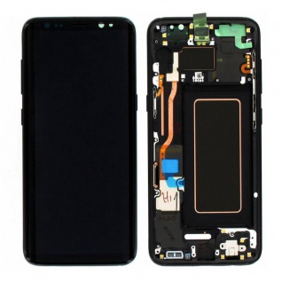 Display Full LCD Komplettset GH97-20457A Schwarz für Samsung Galaxy S8 G950 F