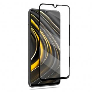 Für Xiaomi Poco M3 / Redmi 9T 3D Display Full LCD H9 Hart Glas Schwarz Folie Panzer Schutz