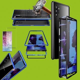 Für Samsung Galaxy Note 10 Magnet Tasche Schwarz Transparent + 0, 3 4D H9 Glas