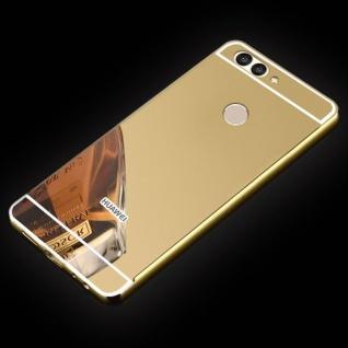 Spiegel / Mirror Alu Bumper 2teilig Gold für Huawei Nova 2S Tasche Hülle Case