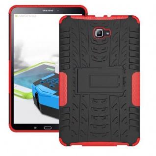 Hybrid Outdoor Schutzhülle Rot für Samsung Galaxy Tab A 10.1 T580 T585 Tasche
