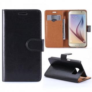 Schutzhülle Schwarz für Samsung Galaxy S7 G930 G930F Bookcover Tasche Hülle Case