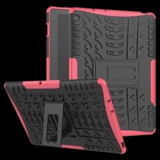 Für Huawei MediaPad M5 Lite 10.1 Zoll Hybrid Outdoor Hülle Pink Tasche Cover Neu