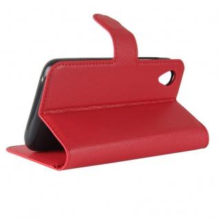 Tasche Wallet Premium Rot für Wiko Sunny 2 Hülle Case Cover Etui Schutz Zubehör - Vorschau 5