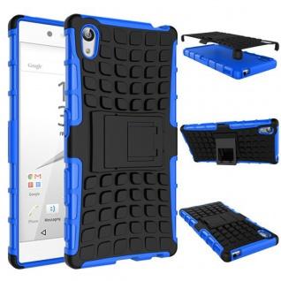 Hybrid Case 2teilig Outdoor Blau Tasche Hülle für Sony Xperia Z5 5.2 Zoll Cover