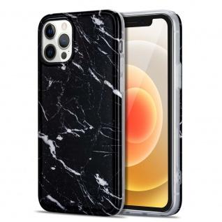 Für Apple iPhone 12 Mini Muster Silikon TPU Handy Tasche Hülle Schwarz