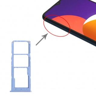 Dual Sim Karten + Micro SD Halter Card Tray für Samsung Galaxy M12 Blau