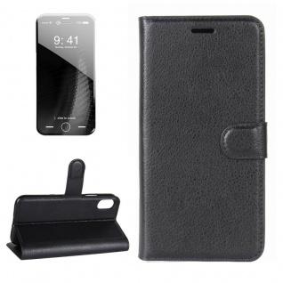 Schutzhülle Schwarz für Apple iPhone X / XS 5.8 Zoll Bookcover Tasche Case Cover