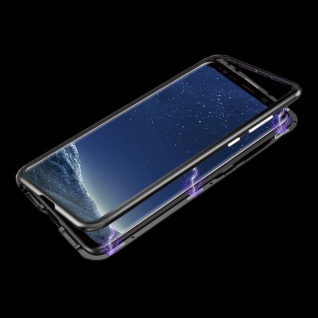 Für Huawei P Smart Plus Magnet / Metall Glas Silber / Transparent Tasche Hülle - Vorschau 3