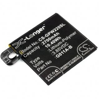 Akku Batterie Battery für Google Pixel 2 G011A ersetzt G011A-B Ersatzakku Accu