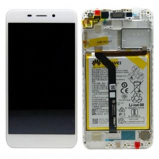 Huawei Display LCD Rahmen für Honor 6C Pro Service Pack 02351LNB Weiß Batterie