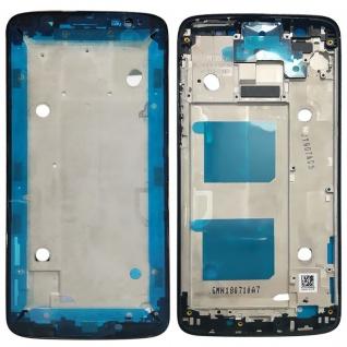 Gehäuse Rahmen Mittelrahmen Deckel für Motorola Moto G6 Schwarz Reparatur Neu