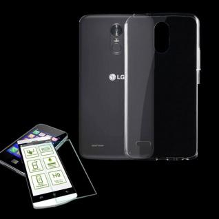Silikoncase Transparent Tasche + H9 Hartglas für LG Stylus 3 Hülle Schutz Neu