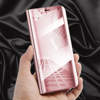 Clear View Spiegel Smart Cover Pink für Huawei Mate 10 Lite Tasche Wake UP Hülle