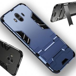 Für Samsung Galaxy J4 Plus J415F Metal Style Outdoor Blau Tasche Hülle Cover Neu