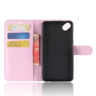 Tasche Wallet Premium Rosa für Wiko Sunny 2 Plus Hülle Case Cover Etui Schutz - Vorschau 4