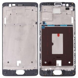 Gehäuse Rahmen Mittelrahmen Deckel für OnePlus 3 / 3T Schwarz Reparatur Ersatz