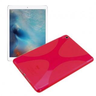 Schutzhülle Silikon X-Line Pink Hülle für Apple iPad Pro 12.9 Tasche Cover Case