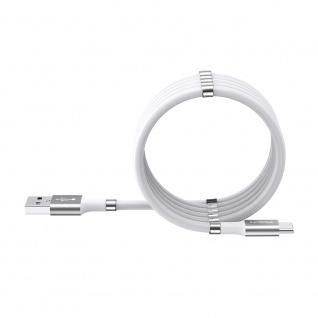 ROCK USB Typ-C Ladekabel 2A Magnetisch Daten Lade Kabel 1.8M Weiß