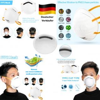 100x MEIXIN Hochwertige Medizinische Atem Schutzmaske Atemschutzmaske FFP2 Schutz Maske Zubehör Neu - Vorschau 1
