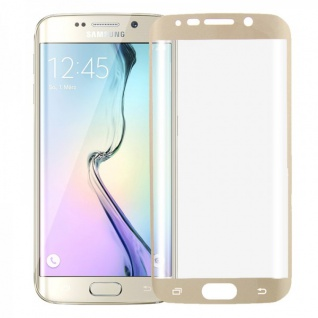 Hybrid TPU gebogene Panzerfolie Gold für Samsung Galaxy S6 Edge Plus G928 F Neu