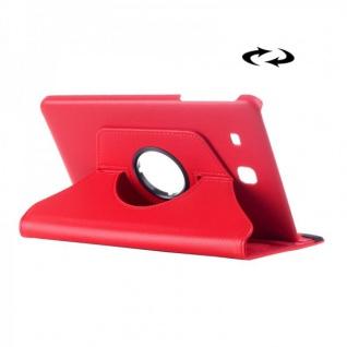 Schutzhülle 360 Grad Rot Tasche für Samsung Galaxy Tab E 9.6 SM T560 T561 Hülle