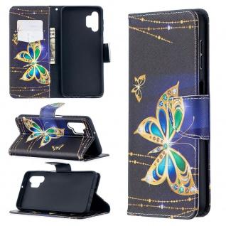 Für Samsung Galaxy A32 5G Kunst-Leder Handy Tasche Motiv 4 Hülle Case Etui Cover